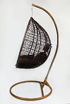 Підвісне крісло-качалка кокон B-183B (коричневе), фото 2