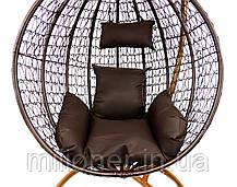 Підвісне крісло-качалка кокон B-183B (коричневе), фото 3
