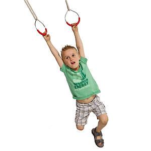Кільця металеві на мотузках для дитячих майданчиків, акробатичні кільця