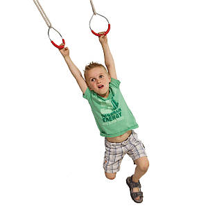 Кольца металические на веревках для детских площадок, акробатические кольца