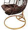 Подвесное кресло-качалка кокон B-183Е (коричнево-серое), фото 6
