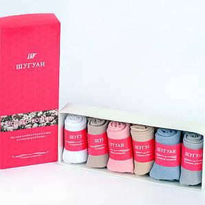 Носки женские короткие в подарочной упаковке Шугуан В2550. Упаковка 6 пар. Размер 37-40