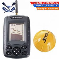 Беспроводной эхолот Phiradar FF168W подходит для зимней рыбалки датчик работает от встроенного аккумулятора