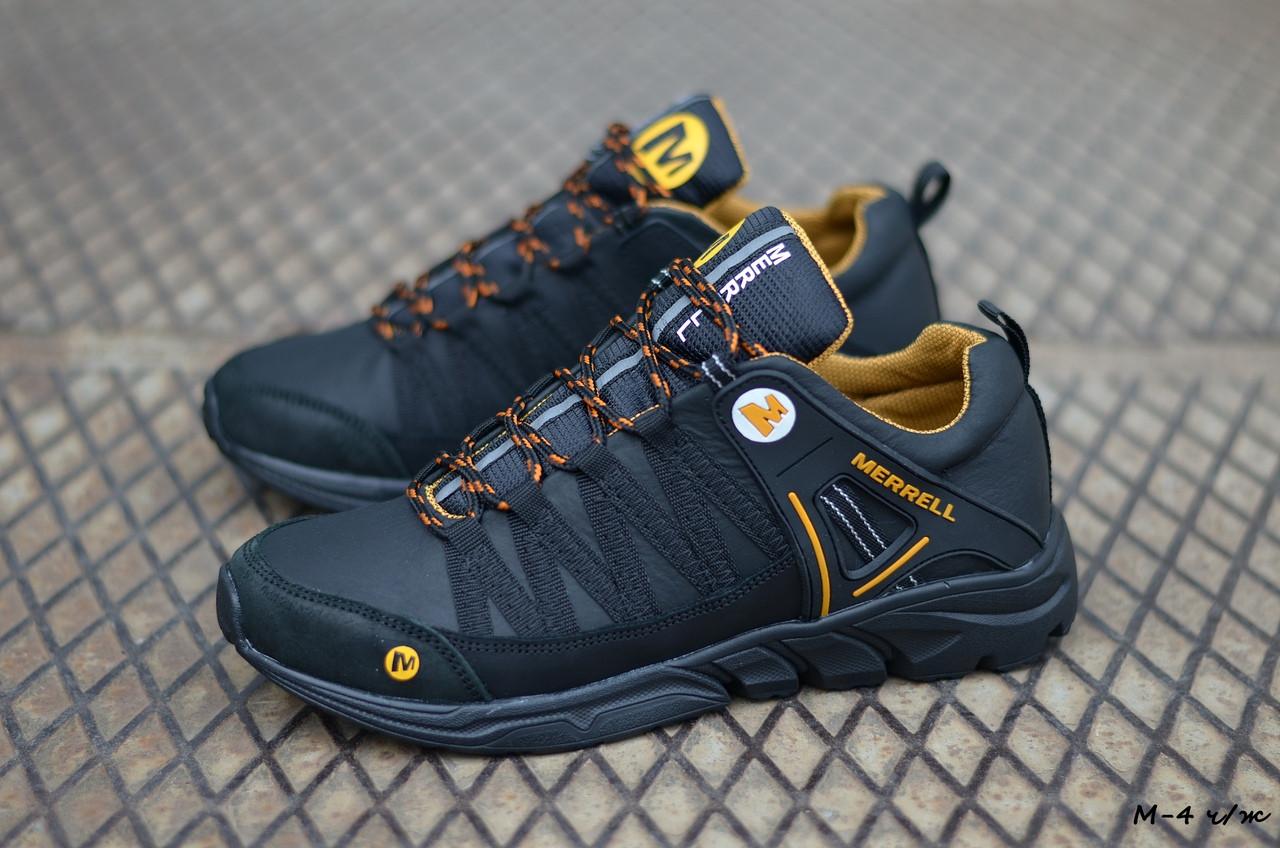 Мужские кожаные кроссовки Merrell (Реплика) (Код: М-4 ч/ж  ) ►Размеры [40,41,42,43,44,45]