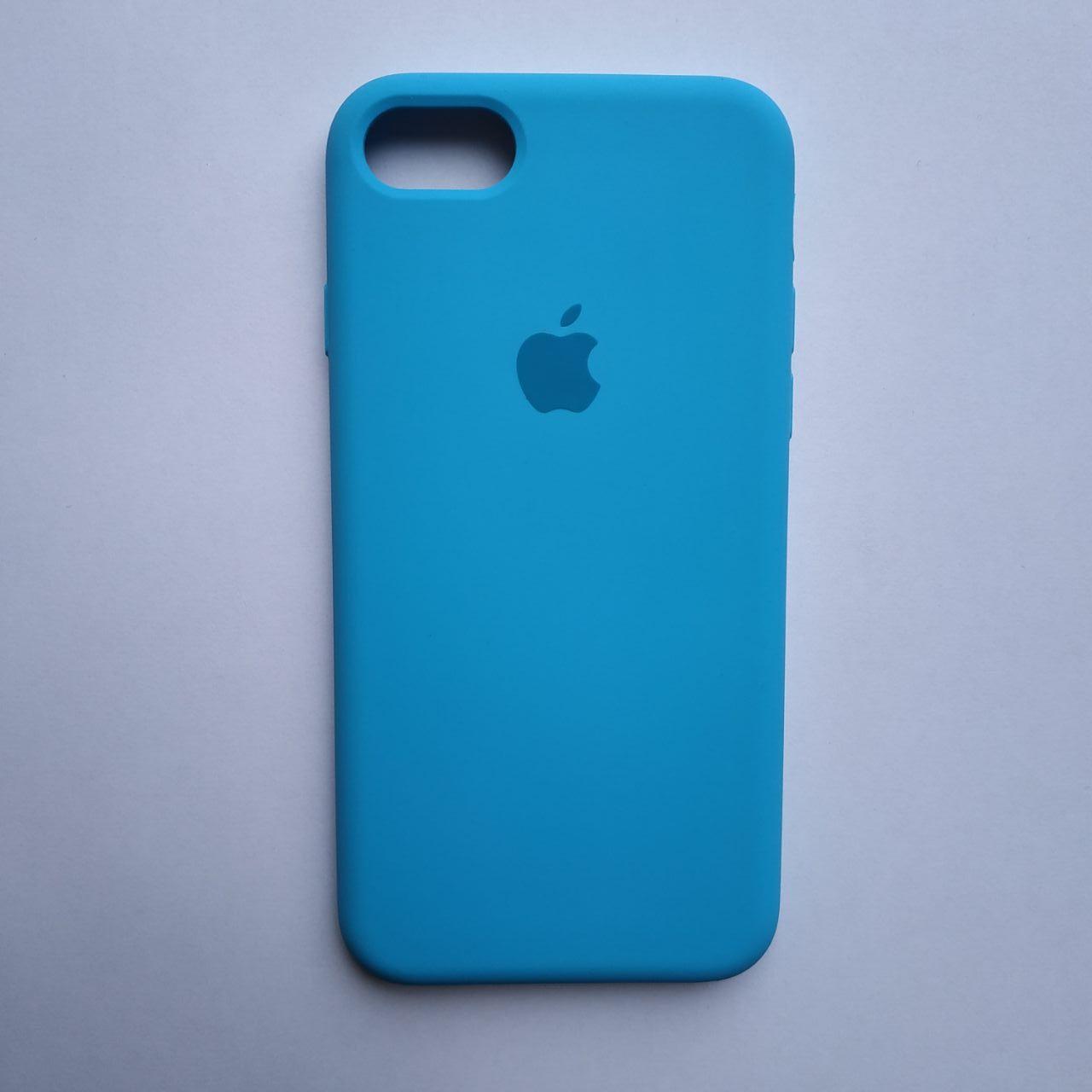 Накладка оригинальная Apple Silicone Case для iPhone 7, 8 Sky Blue