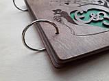 Весільний альбом з дерева для фото та побажань, фото 5