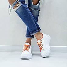 Женские кожаные кроссовки на макси подошве Cosmos (белый)