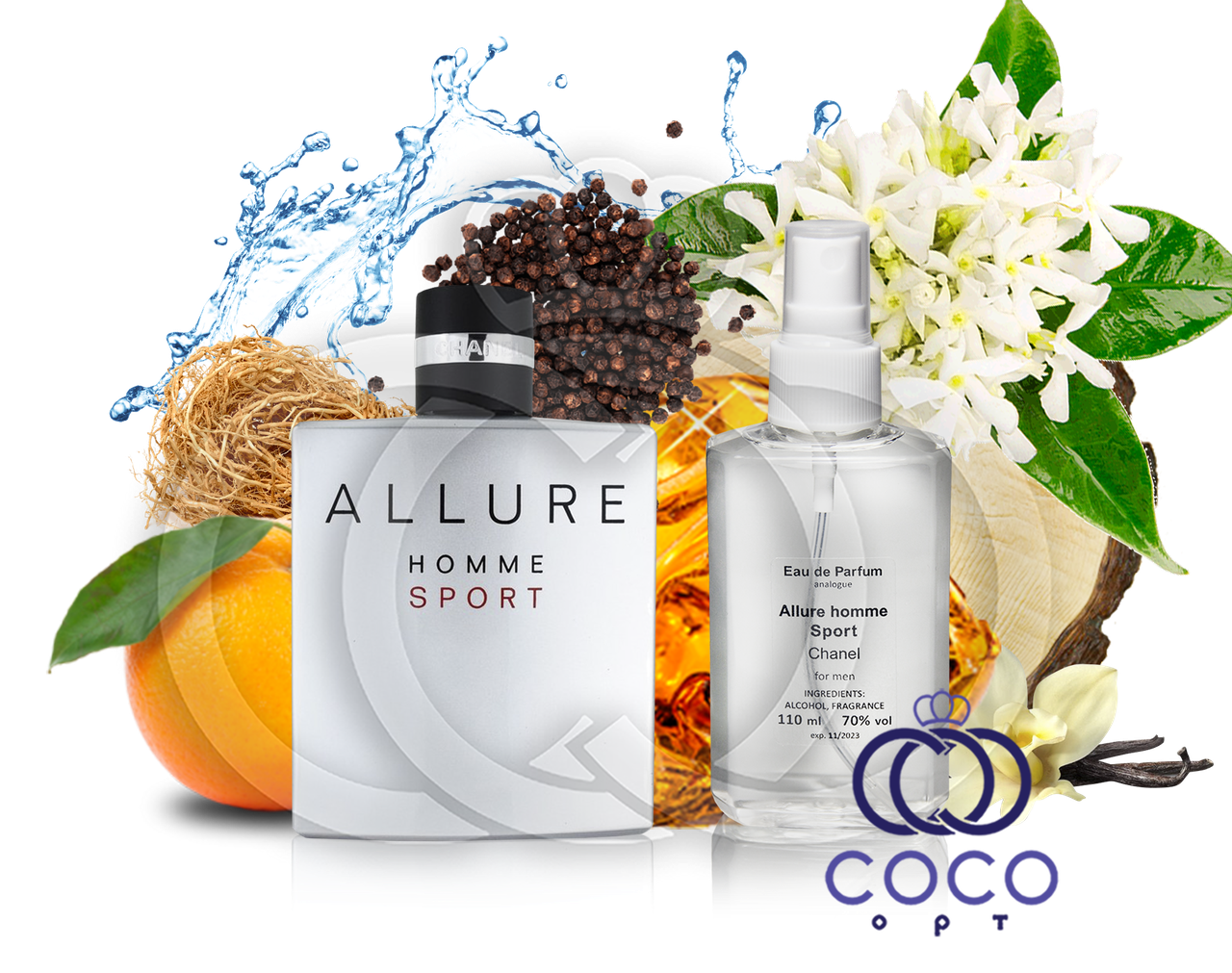 Мужская парфюмированная вода Chanel Allure Home Sport 110 Ml ОАЭ в пластиковой бутылке