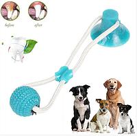 Игрушка для собак канат на присоске с мячом
