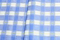 """Льняная полотенечная ткань """"Маргаритки"""" (шир. 150 см)"""