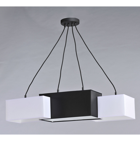 Люстра подвесная на 4 лампочки 29-H152/4E BK+WT+BK(1шт) E27 TK