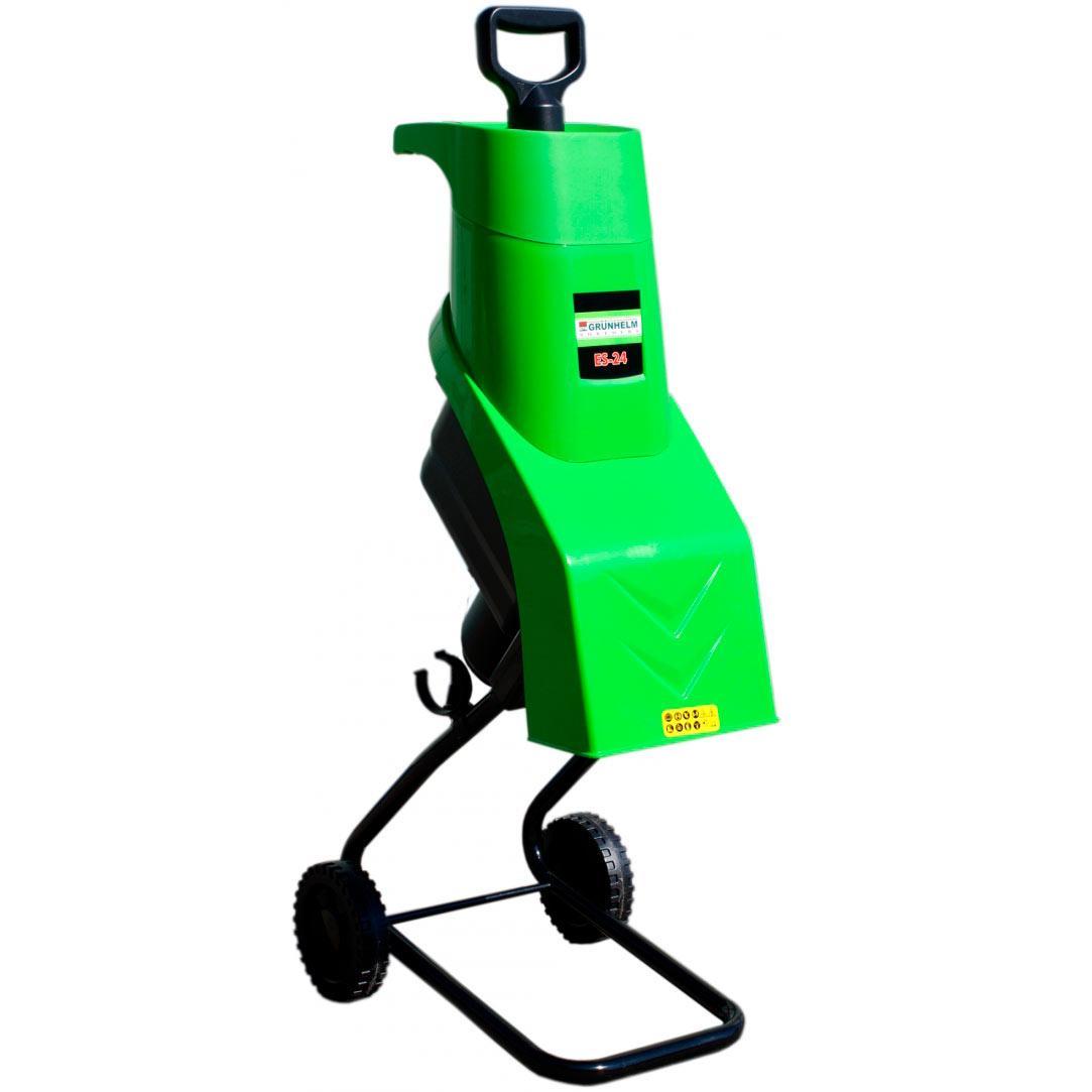 Садовий подрібнювач 2.4 кВт Grunhelm ES-24 (44348)
