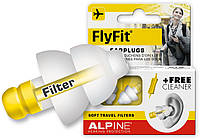 Беруши для полета, путешествий Alpine Flyfit + Venitex + маска для сна (3 в 1)