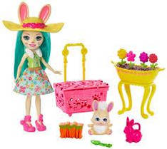 Enchantimals Волшебный сад Флаффи Кроля и Моп GJX33 Wonderwood Bunny Blooms Fluffy Bunny Mop