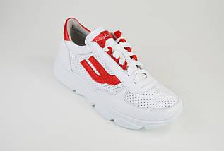 Кроссовки перфорированные Selesta 5300 Белые кожа, фото 2