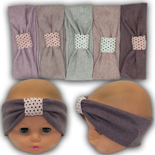 ОПТ Трикотажная повязка для девочки, 48-56 (10шт/упаковка)
