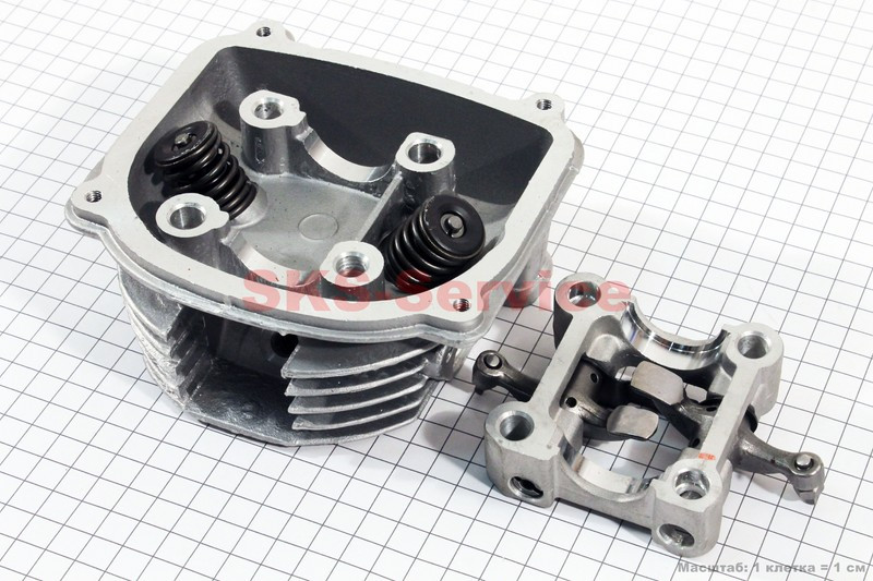 Головка цилиндра+клапана+пастель в сборе 150сс на 4т скутер