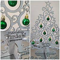 Настольная елка с логотипом, брендирование,лазерная резка и гравировка