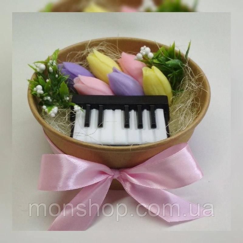 Мыльный букет пианино