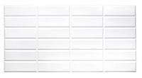 Пластиковые панели ПВХ Грейс Плитка Белая с белым швом 955*480мм