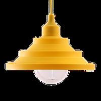 """Світильник силіконовий універсальний гармошкою """"Пірамідка"""" жовтий 1,5 м TM LUMANO"""