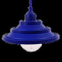 """Світильник силіконовий універсальний гармошкою """"Пірамідка"""" синій 1,5 м TM LUMANO"""