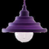 """Світильник силіконовий універсальний гармошкою """"Пірамідка"""" фіолетовий 1,5 м TM LUMANO"""