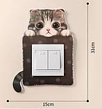 Детская наклейка на стену  (включатель, выключатель, розетку) Лягушка К12, фото 3
