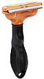 Фурминатор з кнопкою 6.5 див. для короткошерстих собак і кішок середнього розміру Fobnimarut Short Hair DX, фото 3