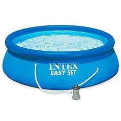 Бассейн надувной с фильтр-насосом Intex Easy Set Pool 28142 366х84 см