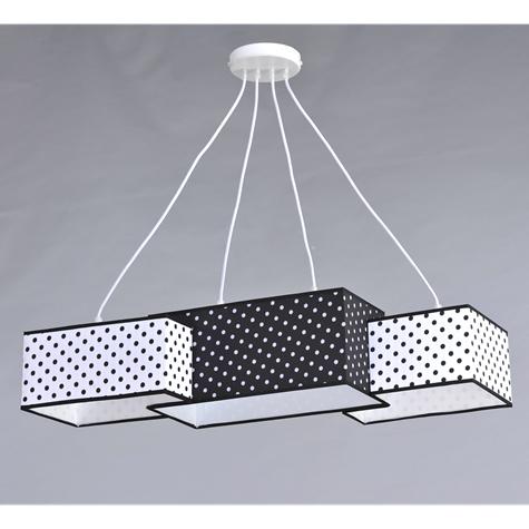 Люстра підвісна на 4 лампочки 29-H152/4I BK+WT+BK(1шт) E27 TK
