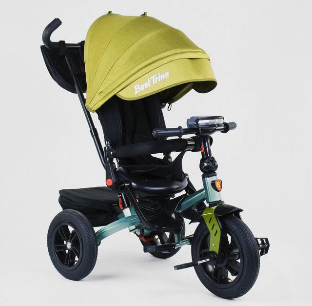 Дитячий триколісний велосипед Best Trike 6088 з пультом і поворотним сидінням