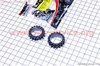 Шестерня коленвала под цепь ГРМ + маслонасоса, к-кт 2шт на 4т скутер