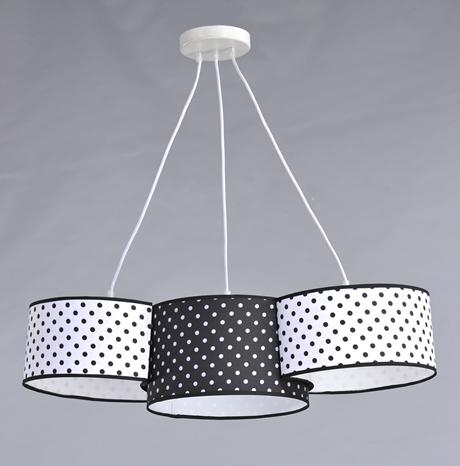 Люстра подвесная на 3 лампочки 29-H161/3 WT+BK+WT(1шт) E27 TK