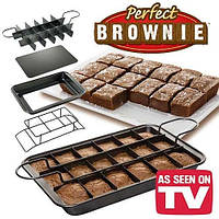 Форма для выпечки Perfect Brownie Pan Set, Квадратная форма для выпечки кексов, Разъемная форма для выпечки! Хит продаж