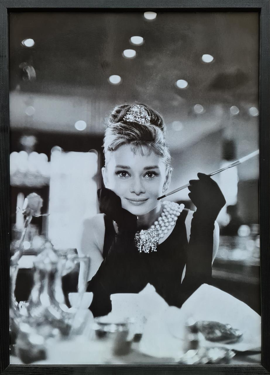 """Фотокартина в деревянной раме """"Audrey Hepburn 1"""", 50х70 см"""