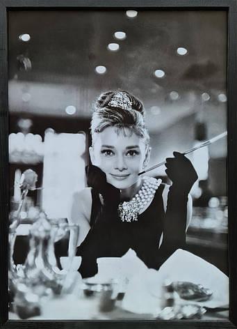 """Фотокартина в деревянной раме """"Audrey Hepburn 1"""", 50х70 см, фото 2"""