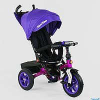 Трехколесный детский велосипед Best Trike 9500 (2020) (надувные колеса & фара & поворот & сладной руль)