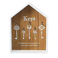 Ключница настенная деревянная, фото 1