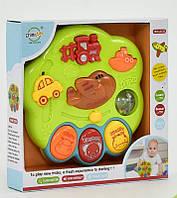 Детская музыкальная игрушка Транспорт с погремушкой и трещёткой Пианино QF 366-023