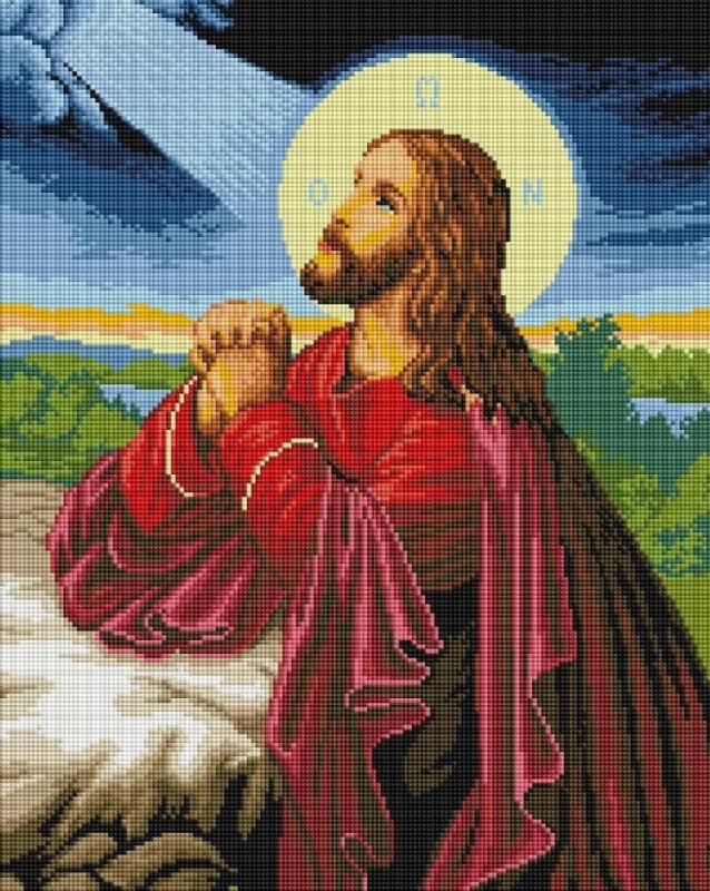 GF-1286 Иисус на горе Елеонской. Набор алмазной мозаики (40 х 50)