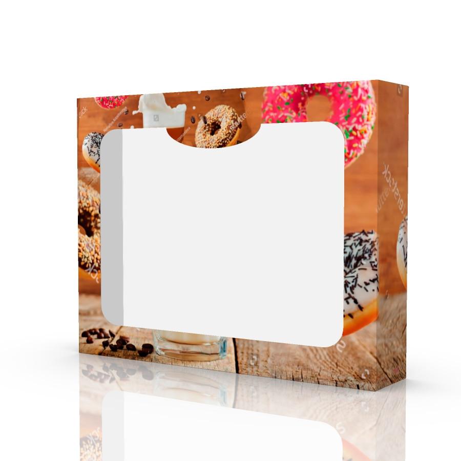 Подарочная коробка DONUT 230х180х45 мм.