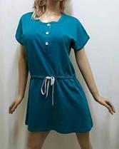 Туника для дома, ночная рубашка, сорочка женская под пояс, размеры от 48 до 52, фото 3
