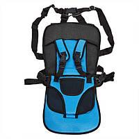 Бескаркасное детское автокресло | кресло для ребенка в машину | детское автомобильное кресло синее! Лучшая цена