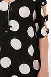 Летнее платье в пол Тропикана черное горох, фото 5