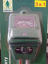 """Вимірювач кислотності pH, освітленості, вологості грунту для """"Green Belt"""", Китай"""
