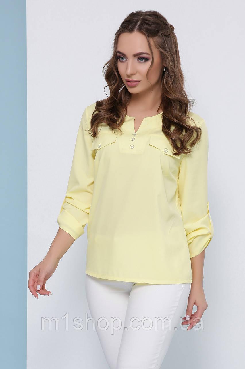 Женская легкая повседневная блуза с рукавом три четверти (1825 mrs)