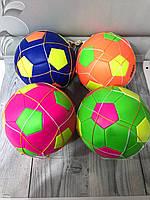 Мяч футбольный цветной 190802