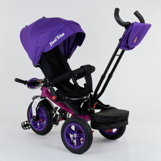 Трехколесный велосипед для самых маленьких Best Trike 6088 с пультом и поворотным сидением