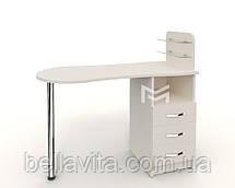 """Маникюрный стол M101 стеклянными полочками под лак """"Эстет  №1"""", фото 3"""